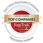 Keurig Green Mountain, Inc. (Keurig) has been named among the 100 most reputable companies in the U.S., according to the Reputation Institute's 2017 US RepTrak® 100 ranking