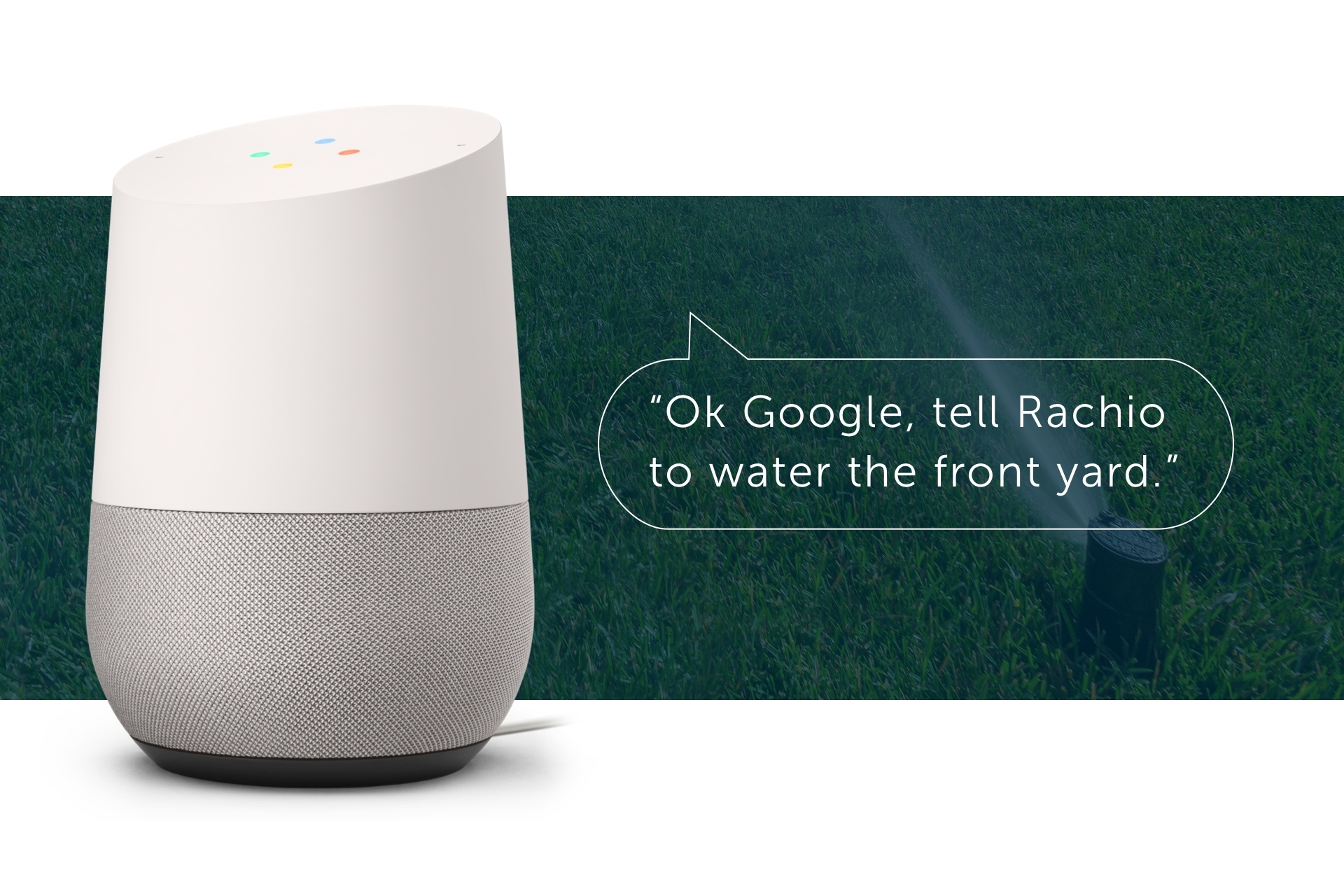 Rachio is World's First Smart Sprinkler Controller to Deliver Full Integration with the Google Assistant (Photo: Business Wire)