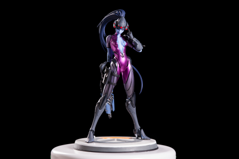 Starting today, players can pre-order a brand-new statue of Overwatch's Widowmaker for $150 USD at www.gear.blizzard.com/blizzard-collectibles. (Photo: Business Wire)