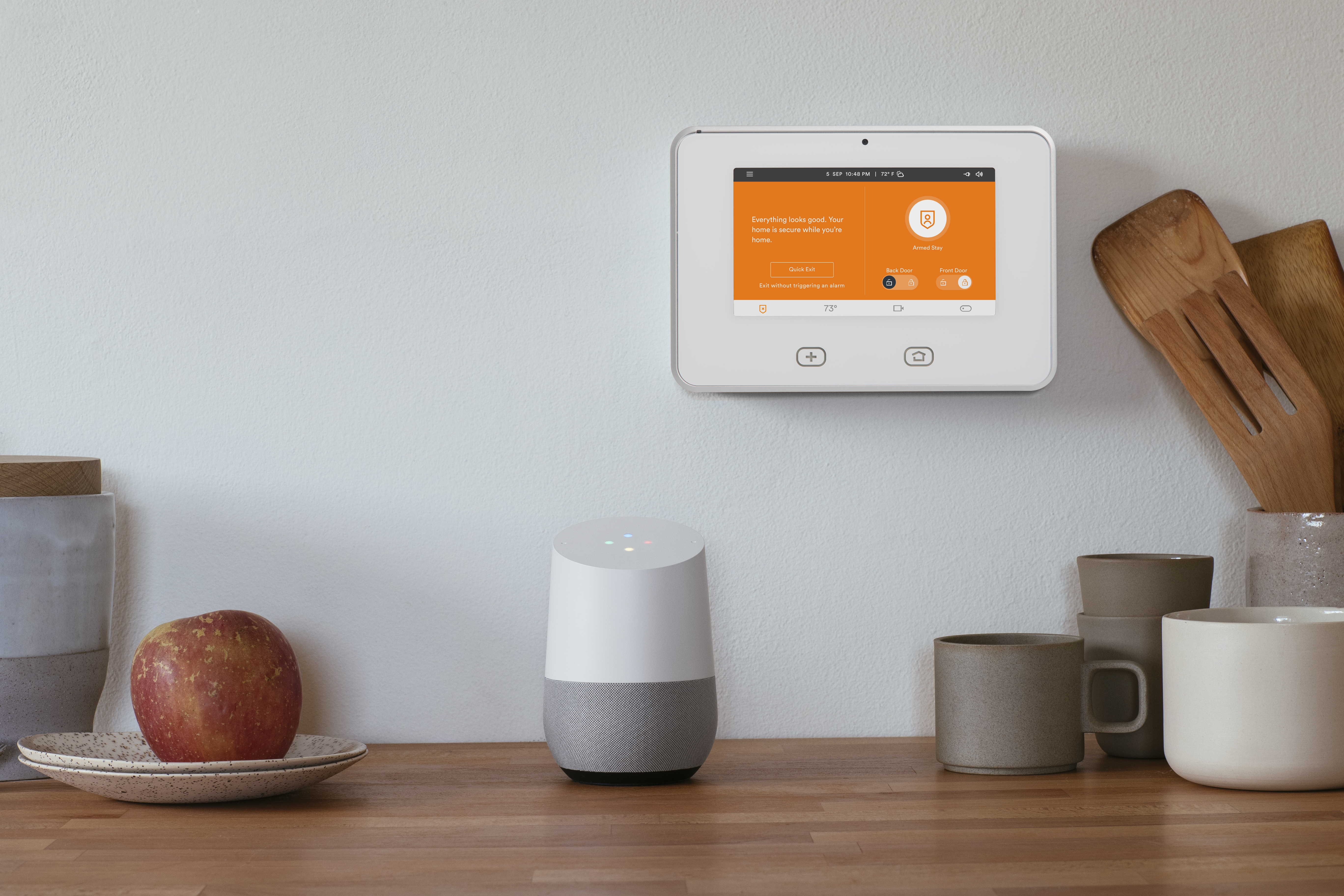 """Vivint customers can simply say """"Ok Google"""" to control smart locks, lights, cameras, garage doors, thermostats and their security system. (Photo: Business Wire)"""