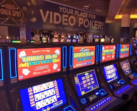Pittsburgh's Rivers Casino launches Video Poker Spot with more than 200 video poker machines and new themes. (Photo: Business Wire)