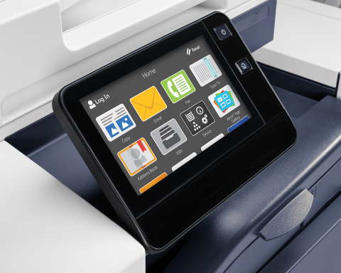 Xerox VersaLink B7035 user interface: Creating a new user experience across the Xerox ConnectKey portfolio, the products feature a customizable touchscreen interface that operates like a mobile device with swipe and tap capabilities. (Photo: Business Wire)
