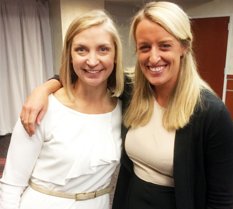 Jennifer Player, Associate Executive Director, Orange County Habitat for Humanity, and Elizabeth Gulledge, Leadership Trainer and Speaker at Bell Leadership Institute, at Habitat for Humanity's CEO Build 2017 Kickoff Breakfast at PNC Arena in Raleigh, NC on October 20, 2016 (Photo: Business Wire)