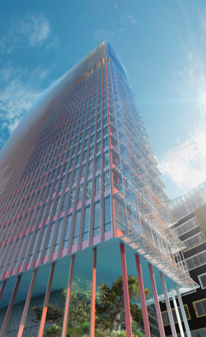 Prestigious French superstructure project La Marseillaise to feature new Alesta AP Architectural Polyester powder coatings. (Photo: Axalta)