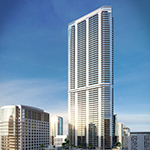 Hyatt Centric Brickell Miami is expected to open in Q3 2017 within the 83-story Panorama Tower. (Photo: Business Wire)