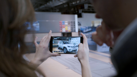The app uses integrated sensor technology and motion tracking, area learning, and depth perception capabilities to revolutionize the consumers' shopping experience (Photo: Business Wire)