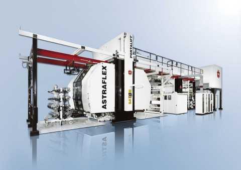 W&H Astraflex 8-color central impression flexographic press. (Photo: Business Wire)
