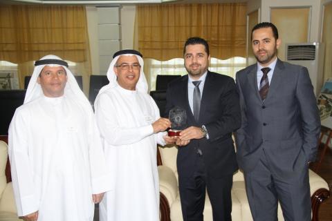 Mr. Abdulla Abdullatif Al Shahin – AURAK Vice-President of Administrative Affairs, Prof. Hassan Hamd ...