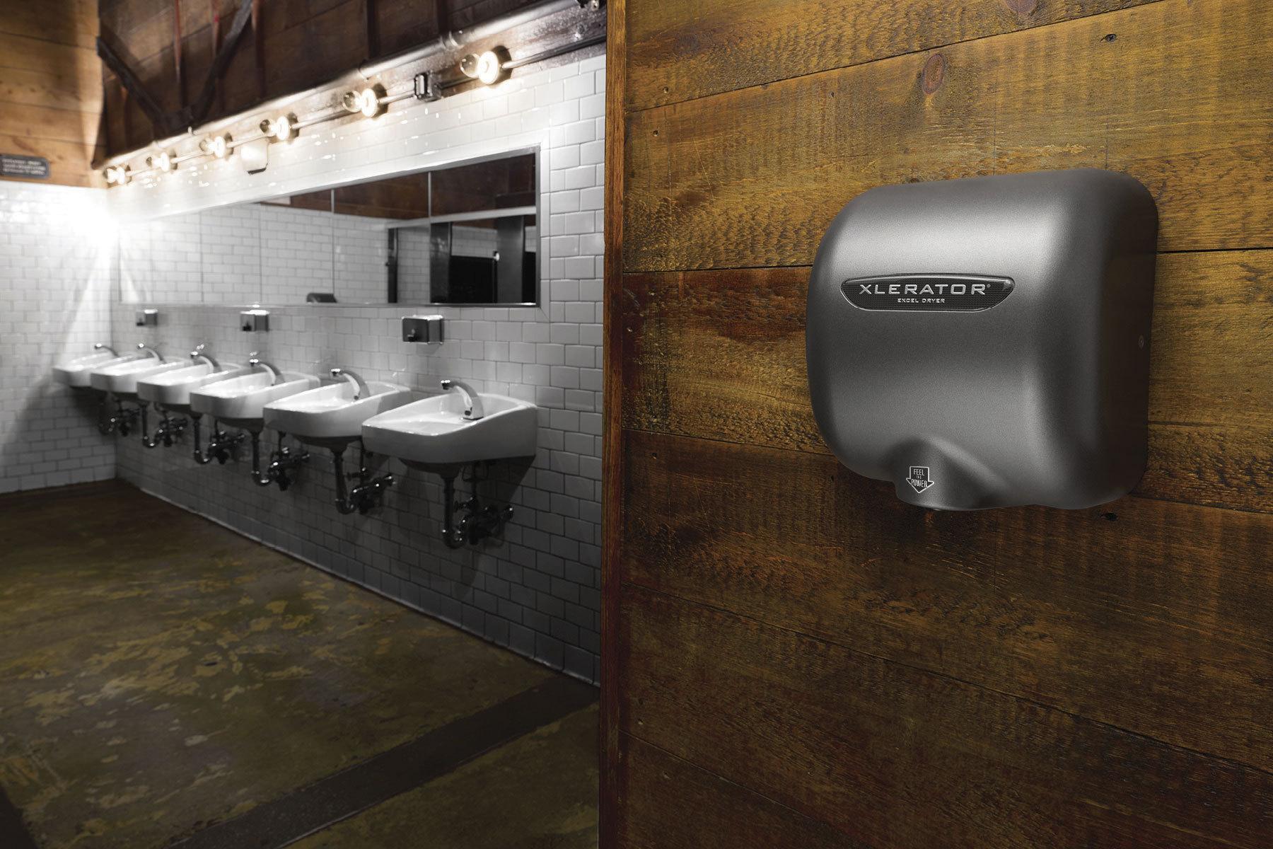 Brooklyn Bowl hand dryer installation photo (Photo: Business Wire)