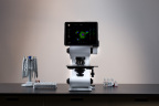 Echo's marquee microscope, Revolve, easily transforms between upright and inverted configurations to offer two microscopes in one. Photo by Jason San Agustin.