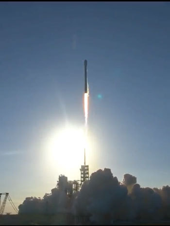SES-10 satellite successfully launched into space on-board SpaceX Falcon 9 rocket from NASA's Kennedy Space Center, Florida to provide broadcasting, enterprise and mobility services across Latin America