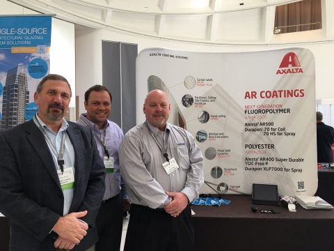 From left to right: Mike Withers, Architectural Segment Leader, Manny Mayer, Business Development Architecture, and Barry Frost, Extrusion Sales will share expertise at Facades+ New York. (Photo: Axalta)