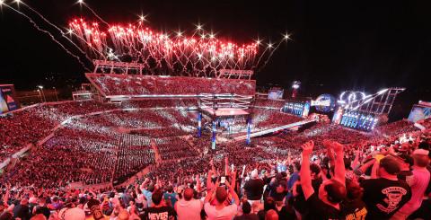 WrestleMania 33 aerial photo. (Photo: Business Wire)