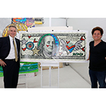 Smart Banking Supports Good Art: Romero Britto, celebrity pop artist (right) turns to Jay Pelham, president of TotalBank (left), for multi-faceted banking solutions unique to his growing business needs. (Photo: Business Wire)