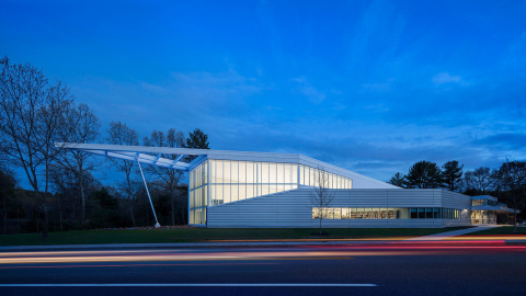Christa McAuliffe Branch Library is granted LEED Silver Certification. Photo by Gustav Holland.
