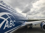 Intrepid Celebrates Delivery of 1st B747-8 Freighter to AirBridgeCargo Airlines (Photo: Business Wire)