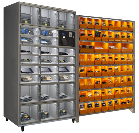 Proven Technology to Drive Significant Process Improvement: AXCESS self-serve, automated lockers and ACTYLUS smart bin solutions from Apex Supply Chain Technologies are being used by some of the biggest companies in the world to decrease costs and improve productivity across several operational processes. Apex is demonstrating its technology in booth S5036 at ProMat 2017 through April 6, 2017. Visit http://www.apexsupplychain.com for more details. (Photo: Business Wire)
