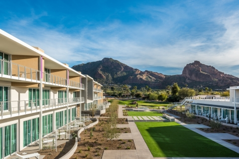The Mountain Shadows Lawn rests at the foot of iconic Camelback Mountain. (Photo: Business Wire)
