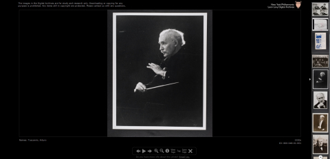 Arturo Toscanini photo from the New York Philharmonic Digital Archives. (Graphic: Business Wire)