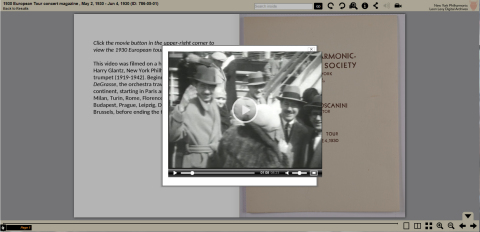 Arturo Toscanini home movie from the New York Philharmonic Digital Archives. (Graphic: Business Wire)