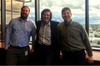 Bryan Elder, P.E., Chuck Hansen, and James Fischer, P.E. at CalEPA, Office of Enforcement headquarters. (Photo: Business Wire)