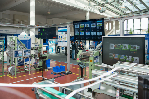 PTC provides IoT and augmented reality technology in opening of the Digital Capability Center (DCC), a learning factory focused on Industrie 4.0 manufacturing, in Aachen, Germany. Source: McKinsey & Company (Photo: Business Wire)