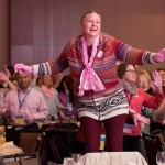 Nearly 1,000 nurses danced at Medline's 12th Annual Breast Cancer Awareness Breakfast (Photo: Business Wire)