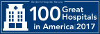 Becker's Hospital Review 100 Great Hospitals in America 2017 logo.
