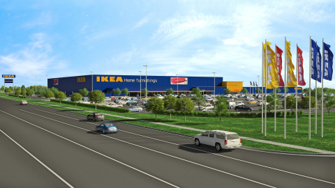 IKEA to install solar atop future Grand Prairie, Texas store opening Fall 2017. (Photo: Business Wire)