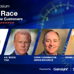 """Featured speakers at the """"Win the Race to Keep and Grow Customers"""" Executive Symposium include Nick Mehta, CEO of Gainsight; J.B. Wood, CEO of TSIA; Christopher M. Carrington, CEO of ServiceSource; as well as guest presenter and professional racer, Derek Hill. (Graphic: Business Wire)"""