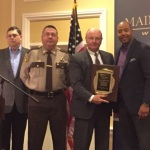 Smiths Detection, Inc. presents Sheriff Dale Lancaster of the Somerset County Sheriff's Office with a Pioneer Award for their commitment to providing an enhanced level of staff, visitor, and inmate safety and security. (Photo: Business Wire)