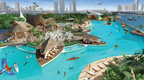 Rendering of the renovation and enhancement of Jungle Island in Miami. (Photo: Business Wire)