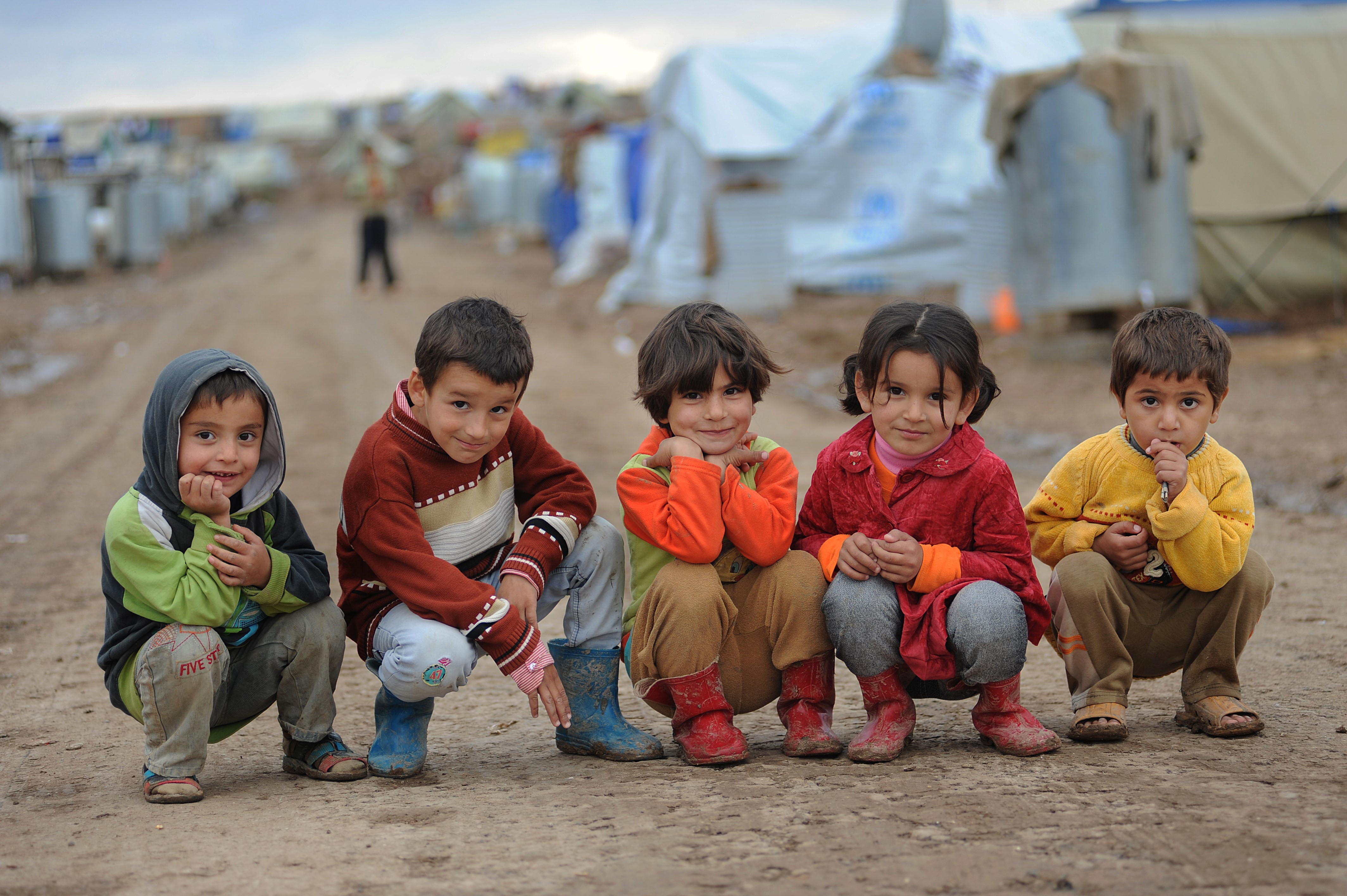 Refugee children play in Domiz camp in northern Iraq, where the IRC provides vital education and protection services. Photo: Peter Biro/IRC