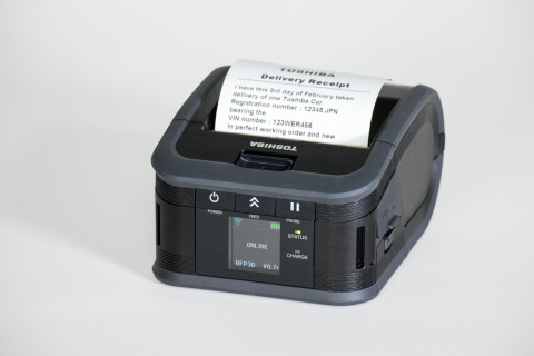 Toshiba Tec Corporation unveils its B-FP3 mobile printer, which produces three-inch wide receipts an ...