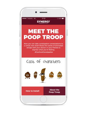 The Poop Troop Keyboard App Welcome Screen (Photo: Business Wire)