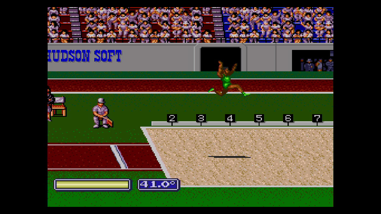 In this TurboGrafx-16 sports game, compete in six categories of events that include shooting, archery, rowing, swimming, and track & field. The game features Olympics mode, where you play all the events over the course of a few days, and Training mode, where you can choose individual events to play. (Photo: Business Wire)