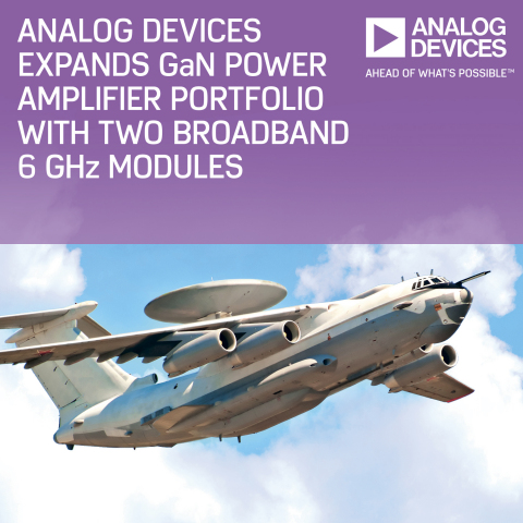 Analog Devices Expands GaN Power Amplifier Portfolio with Two Broadband 6-GHz Modules (Photo: Busine ...