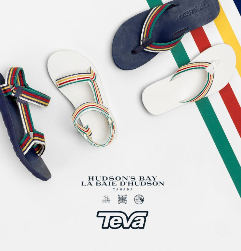 1a30801cd Stripes Meet Straps  Hudson s Bay Partners with Teva for Limited Spring  2017 Collection