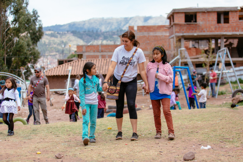 Vivint Smart Home traveled to Peru to help repair schoolhouses, build playgrounds, improve greenhouses and renovate therapy rooms for children with disabilities. (Photo: Business Wire)