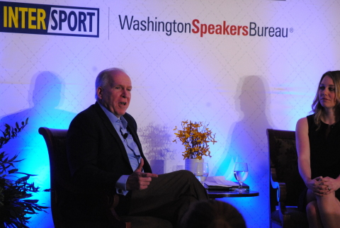 Former CIA Director John Brennan speaks at the inaugural Executive Marketers Leadership Summit presented by Intersport and Washington Speakers Bureau (Photo: Business Wire)