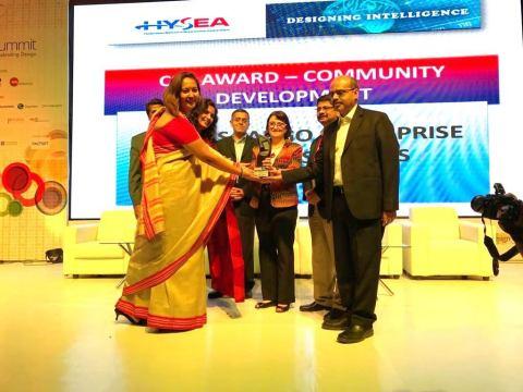 Wells Fargo Enterprise Global Services wins 2017 HYSEA CSR award (Photo: Business Wire)