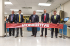 Michael Stout, Global Marketing Director Silanes; Samuel Conzone, Senior Vice President; Jack Boss, Chief Executive Officer and President; John Nicholson, Senior Director Research & Development Silanes and Erick Asmussen, Senior Vice President and Chief Financial Officer celebrate the opening of Momentive's new Charlotte Tire Research and Development Laboratory (Photo: Business Wire)