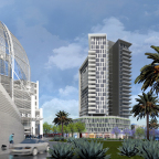 The Richman Group of California has commenced construction on K1, a mixed-use development in Downtown San Diego that includes a 23-story apartment tower with 222 units, retail spaces; and an adjoining restaurant and unique residences, designed by Rob Wellington Quigley, FAIA, architect of San Diego's Central Library, located across the street from K1. (Photo: Business Wire)