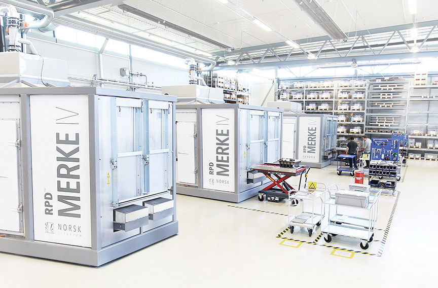 The Norsk Titanium Production Floor of the Future - Replacing Forged Parts with Precision Rapid Plasma Deposition Additive Manufactured Components for the Boeing 787 Dreamliner (Photo: Business Wire)