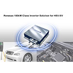 Renesas Electronics new 100 kW class inverter solution for HEV/EV (Graphic: Business Wire)