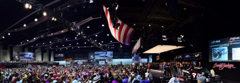 The high energy of collector cars selling at No Reserve during Barrett-Jackson's 15th year in Palm Beach helped drive the highest sell-through rate of any Florida collector car auction, including 14 world records (Photo: Business Wire)