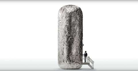 "Actors and comedians ""get real"" inside a Chipotle burrito as part of Chipotle's new advertising camp ..."
