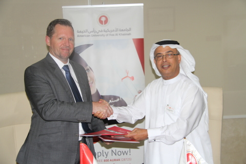 Prof. Al Alkim and Mr. Bryan Saxby (Photo: ME NewsWire)