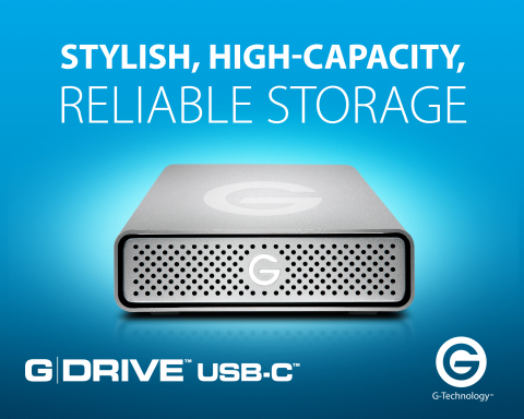 Introducing Western Digital's G-Technology G-Drive USB-C external hard drive (Photo: Business Wire)