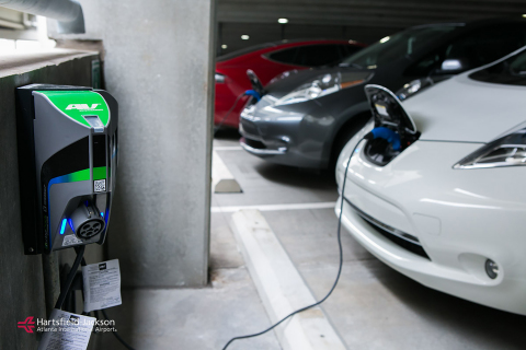 Hartfield-Jackson Atlanta Airport installs 102 AeroVironment TurboDock EV chargers (Photo: Business Wire)